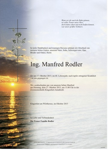 Ing. Manfred Rodler