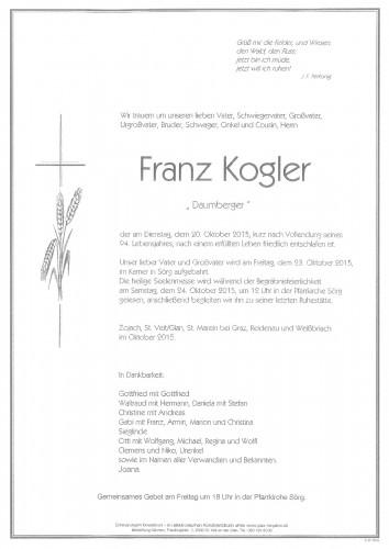 "Franz Kogler ""Daumberger"""