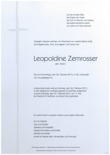 Leopoldine Zemrosser