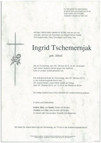 Ingrid Tschemernjak  geb. Jöbstl