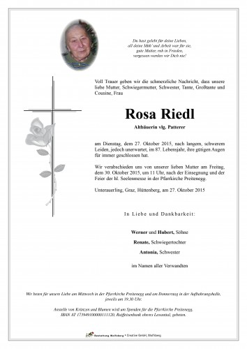 Rosa Riedl