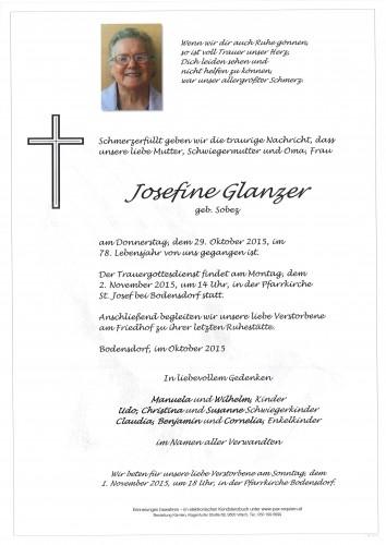 Josefine Glanzer geb. Sobez