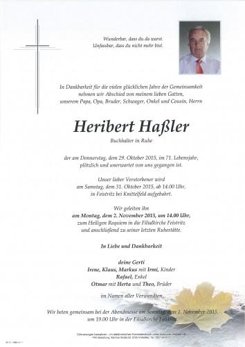 Heribert Haßler