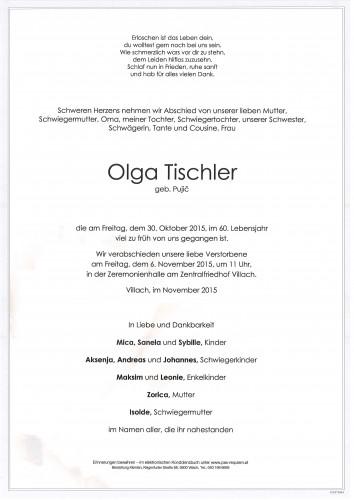 Olga Tischler geb. Pujic