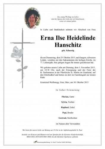 Erna Ilse Heidelinde Hanschitz