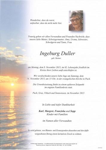 Ingeburg Duller