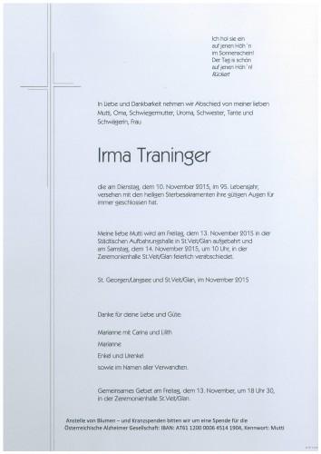 Irma Traninger