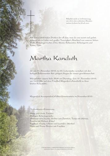 Martha Kanduth