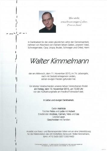 Walter Kimmelmann