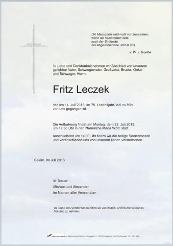 Fritz Leczek