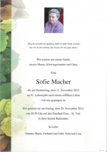 Sofie Macher