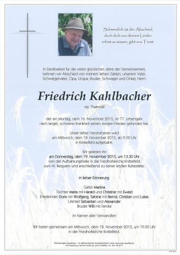 Friedrich Kahlbacher