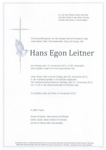 Hans Egon Leitner
