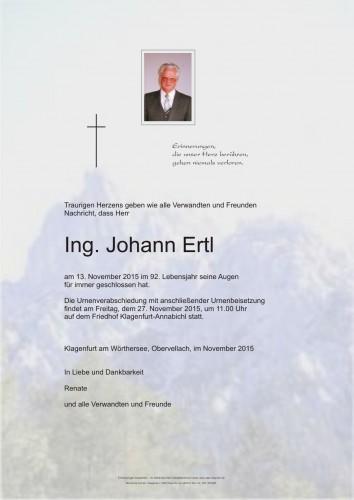 Ing. Johann Ertl