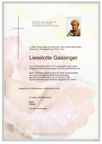 Lieselotte Gassinger