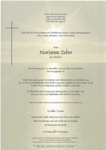 Marianne Zeber