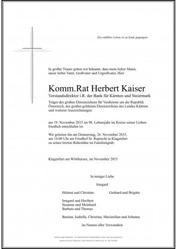 Komm.Rat. Herbert Kaiser