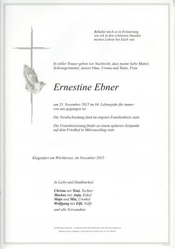 Ernestine Ebner