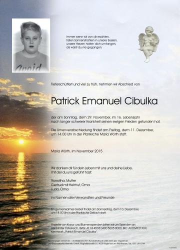 Patrick Emanuel Cibulka