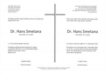 Dr. Hans Smetana