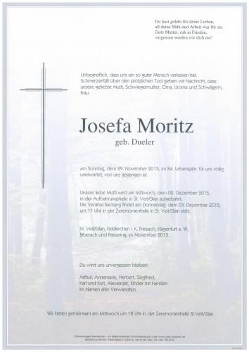 Josefa Moritz  geb. Dueler