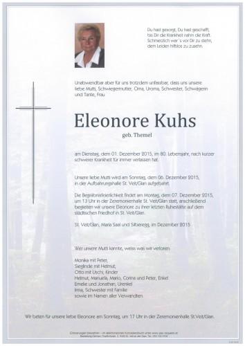 Eleonore Kuhs  geb. Themel