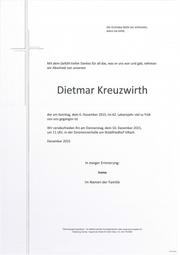 Dietmar Kreuzwirth