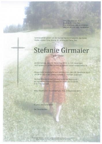 Stefanie Girmaier  geb. Thaler