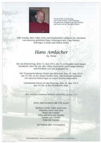 Hans Amlacher
