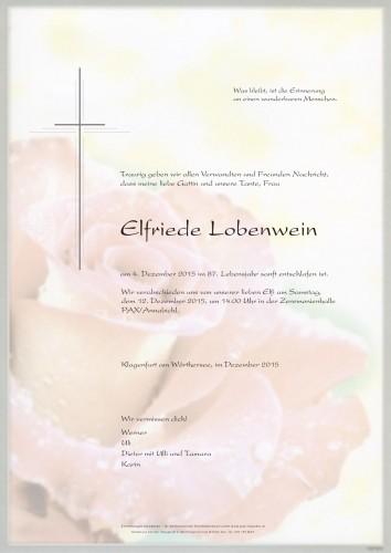 Elfriede Lobenwein