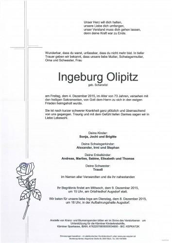 Ingeburg Olipitz geb. Scharwitzl