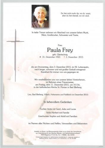 Paulina Frey geb. Glantschnig