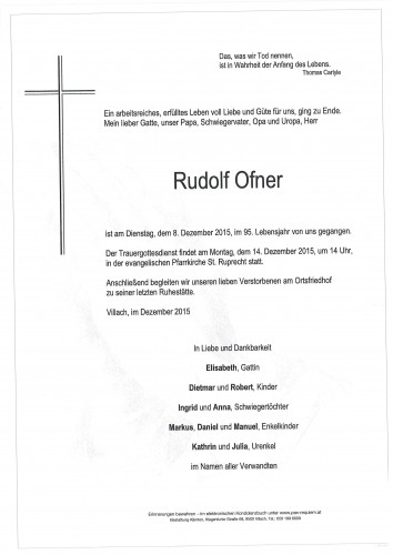 Rudolf Ofner