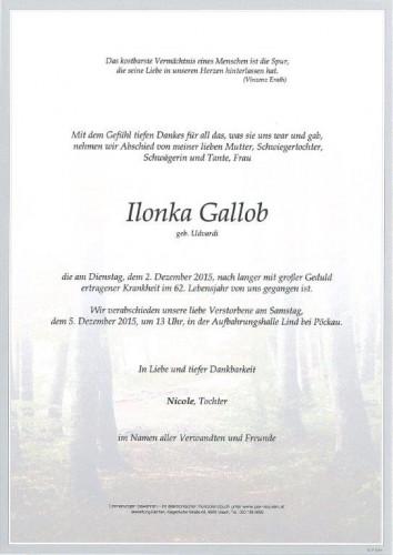 Ilonka Gallob
