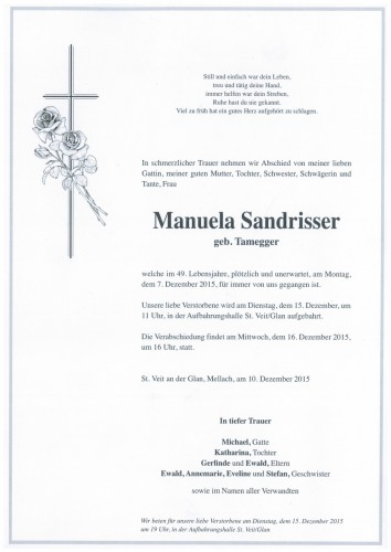 Manuela Sandrisser geb. Tamegger