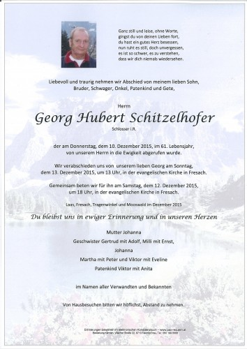 Georg Hubert Schitzelhofer