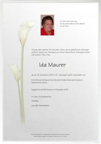 Ida Maurer