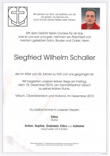 Siegfried Wilhelm Schaller