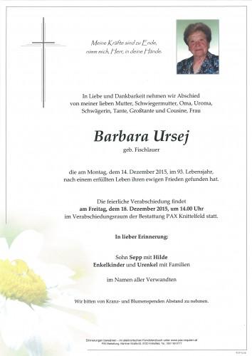 Barbara Ursej