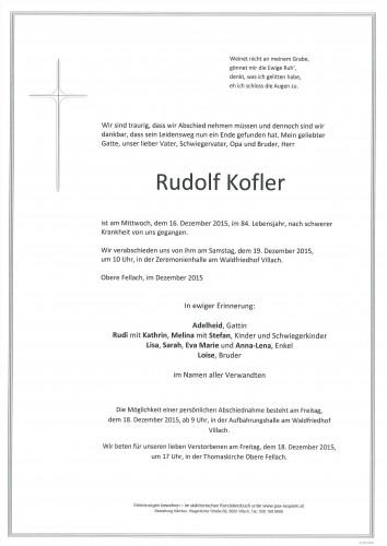 Rudolf Kofler