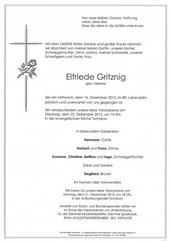 Elfriede Gritznig geb. Messner