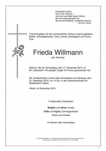 Frieda Willmann geb. Kassolnigg
