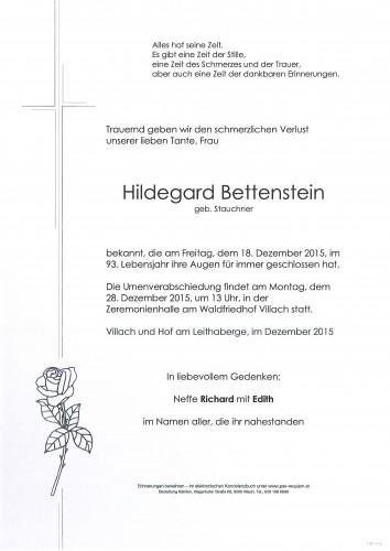 Hildegard Bettenstein geb. Stauchner