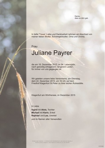 Juliane Payrer