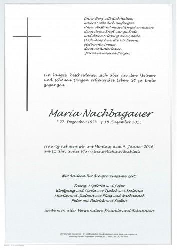 Maria Nachbagauer