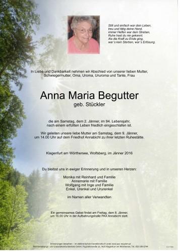 Anna Maria Begutter