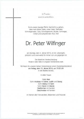 Dr. Peter Wilfinger