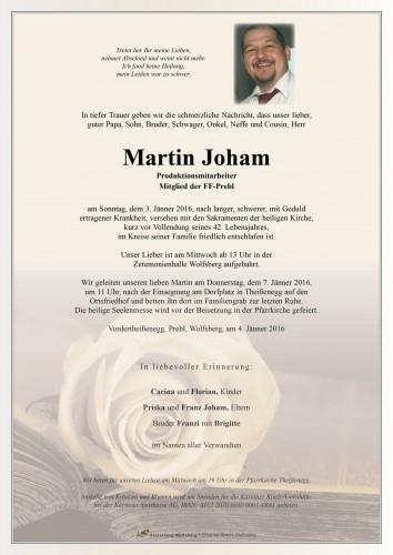 Martin Walter Joham