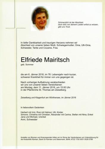Elfriede Mairitsch