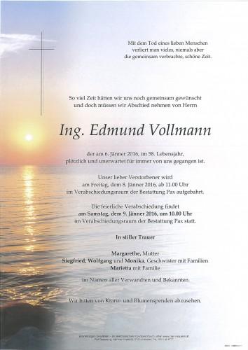 Ing. Edmund Vollmann